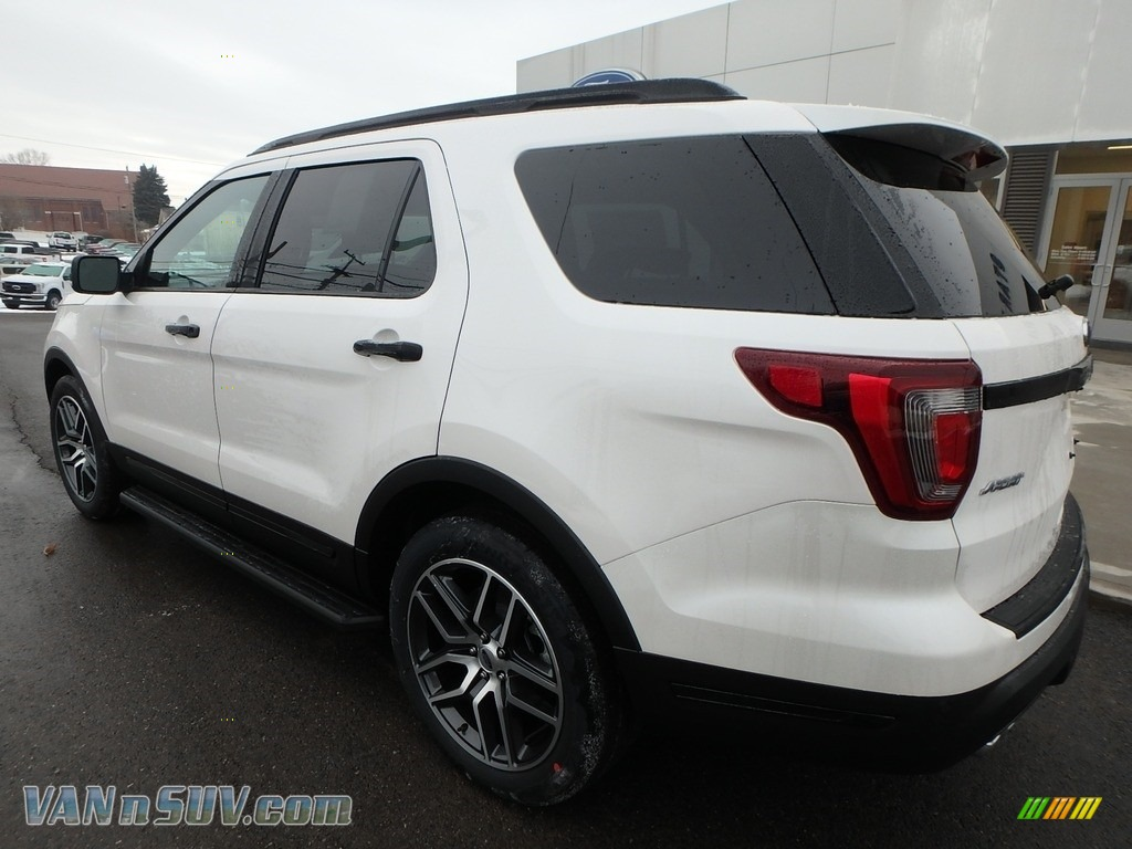2018 Explorer Sport 4WD - White Platinum / Ebony Black photo #7