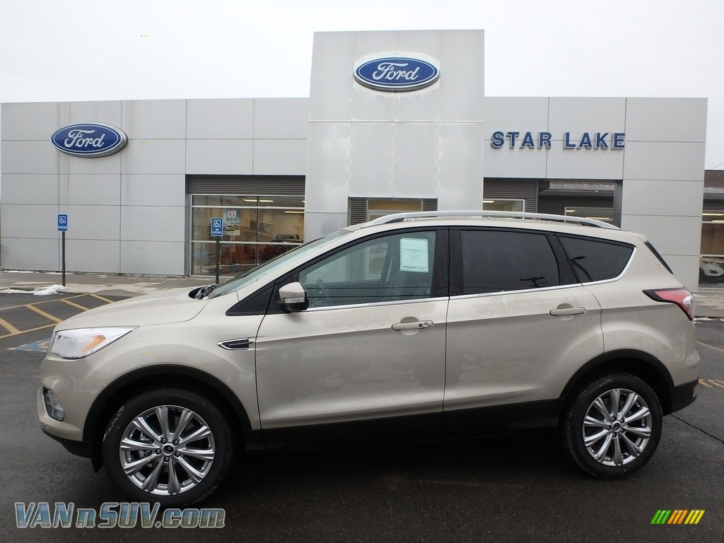 2018 Escape Titanium 4WD - White Gold / Charcoal Black photo #1