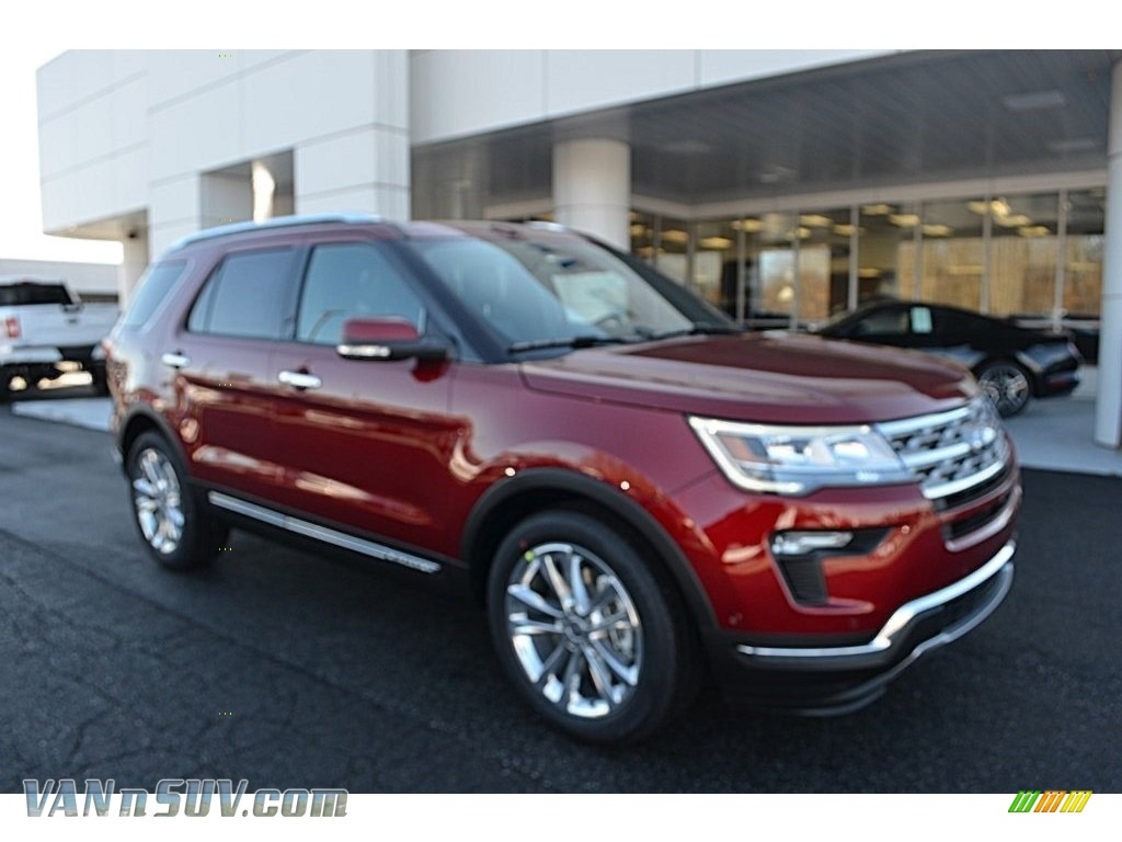 Ruby Red / Ebony Black Ford Explorer Limited