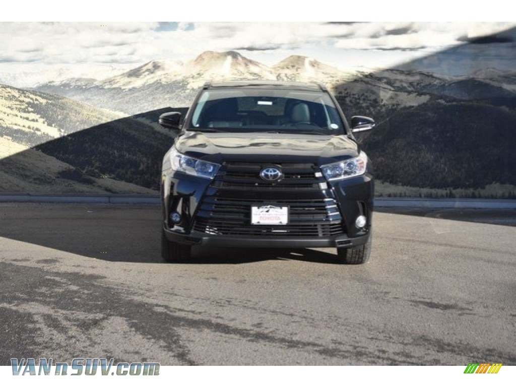 2018 Highlander SE AWD - Midnight Black Metallic / Ash photo #2
