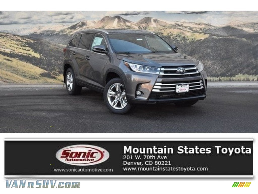 2018 Highlander Limited AWD - Predawn Gray Mica / Black photo #1