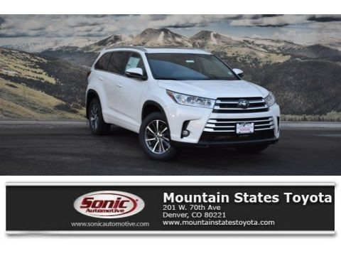 Blizzard White Pearl 2018 Toyota Highlander XLE AWD