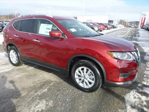 Scarlet Ember 2018 Nissan Rogue SV AWD
