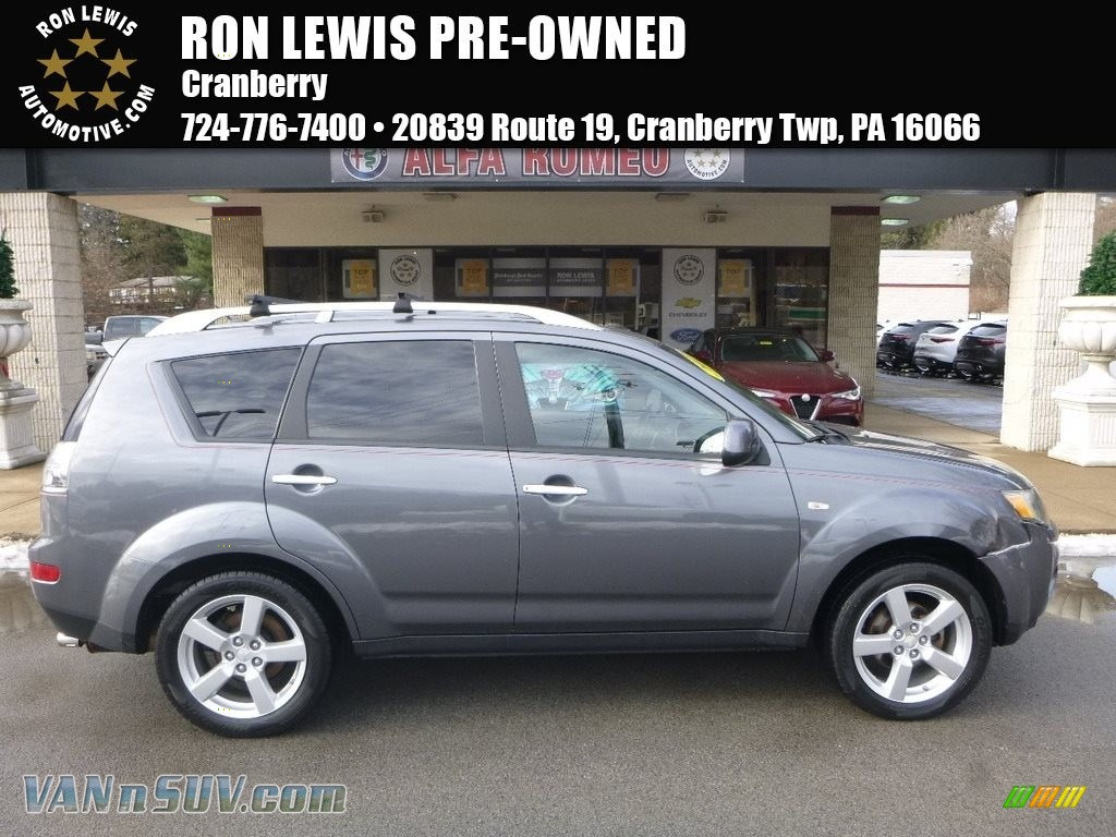 2007 Outlander XLS 4WD - Graphite Gray Pearl / Black photo #1