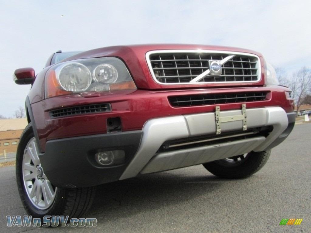 2008 XC90 3.2 AWD - Ruby Red Metallic / Off Black photo #1