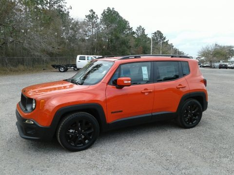 Omaha Orange 2017 Jeep Renegade Latitude