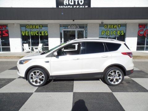 White Platinum Metallic 2016 Ford Escape Titanium