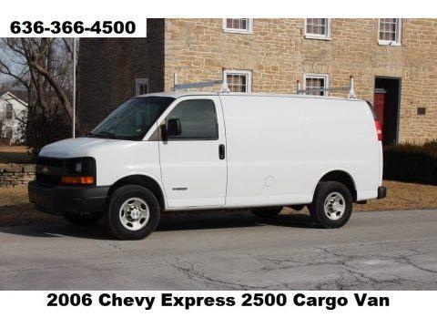 Summit White 2006 Chevrolet Express 2500 Cargo Van