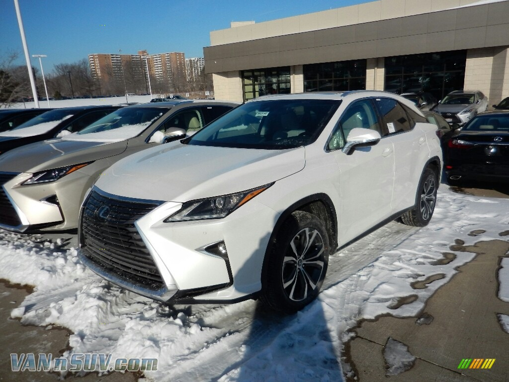 2018 RX 350 AWD - Eminent White Pearl / Stratus Gray photo #1