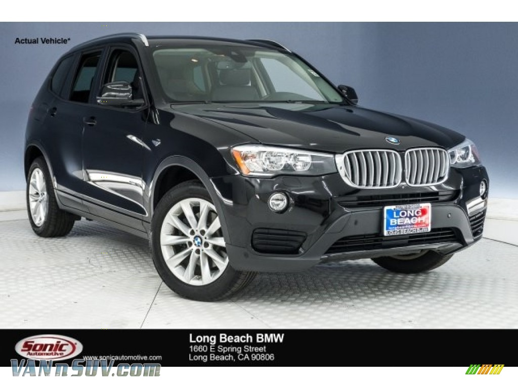 2015 X3 xDrive28i - Jet Black / Black photo #1
