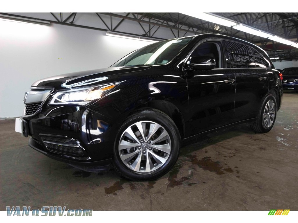 2016 MDX SH-AWD Technology - Crystal Black Pearl / Ebony photo #1
