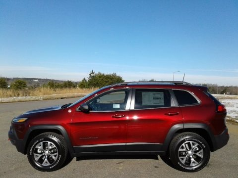 Velvet Red Pearl 2018 Jeep Cherokee Trailhawk 4x4