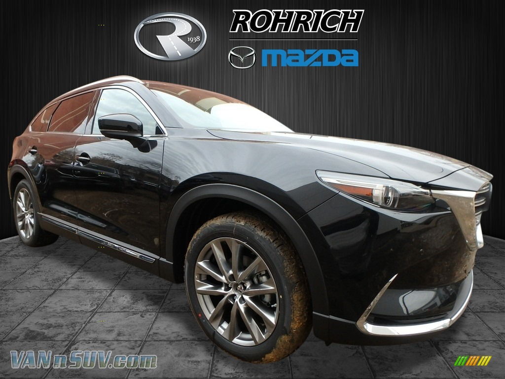 2018 CX-9 Signature AWD - Jet Black Mica / Auburn photo #1