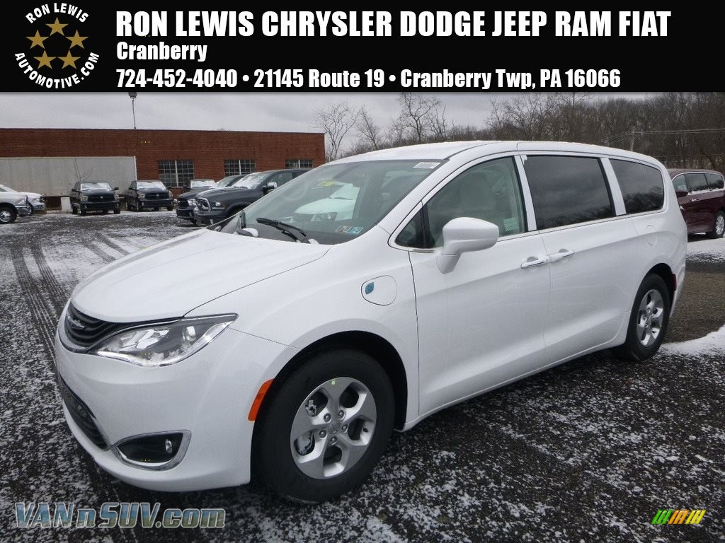 Bright White / Black/Alloy Chrysler Pacifica Hybrid Touring Plus