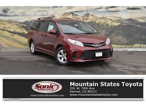 Salsa Red Pearl 2018 Toyota Sienna LE