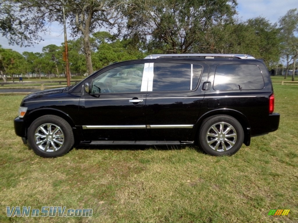 2007 QX 56 - Liquid Onyx Black / Graphite Black photo #3