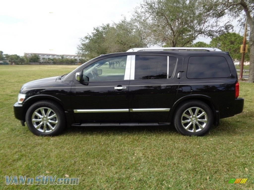 2007 QX 56 - Liquid Onyx Black / Graphite Black photo #53