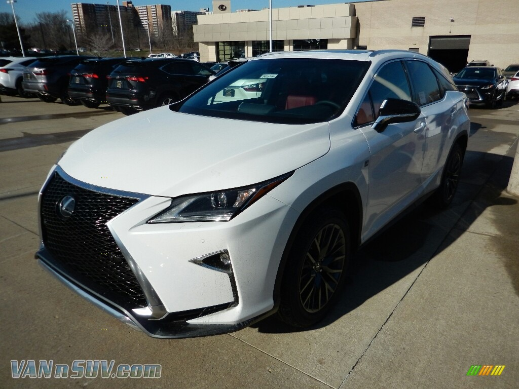 2018 RX 350 F Sport AWD - Ultra White / Rioja Red photo #1