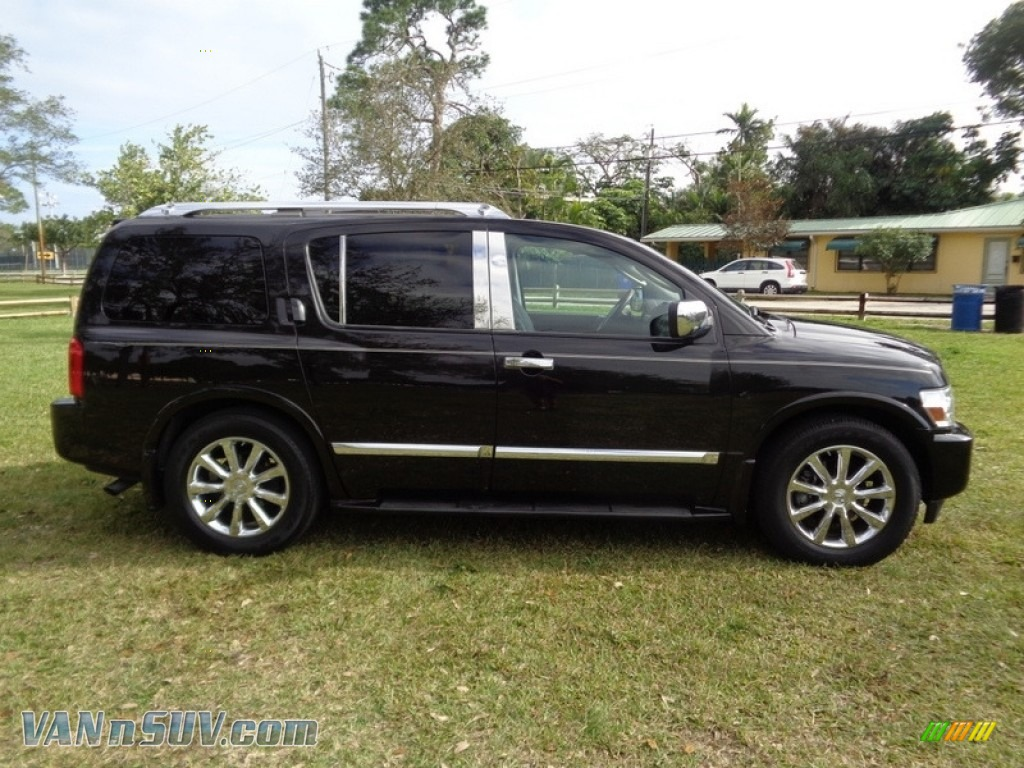 2007 QX 56 - Liquid Onyx Black / Graphite Black photo #75