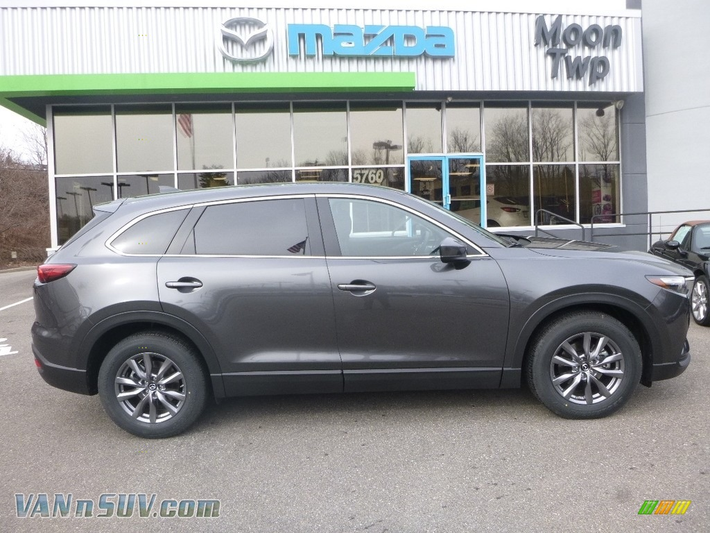 Machine Gray Metallic / Black Mazda CX-9 Sport AWD