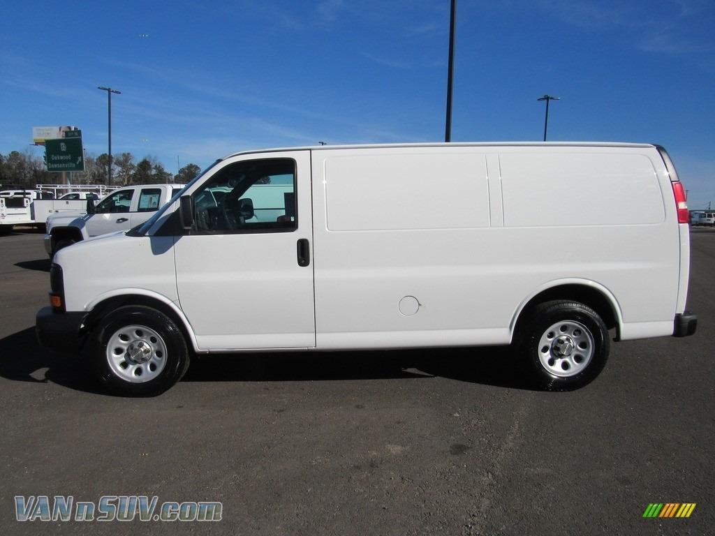 2012 Express 1500 Cargo Van - Summit White / Medium Pewter photo #2