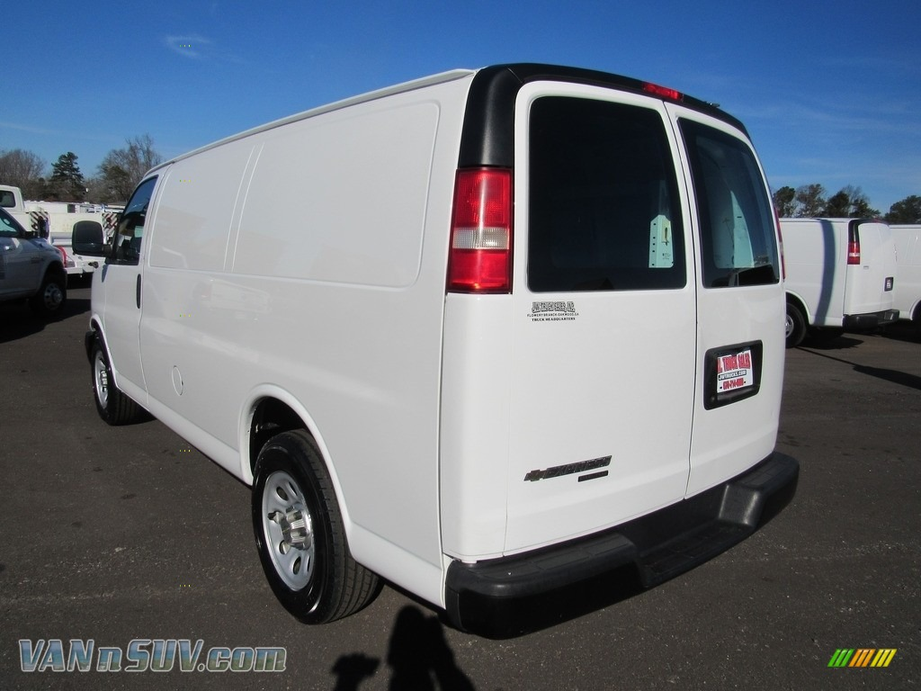 2012 Express 1500 Cargo Van - Summit White / Medium Pewter photo #3
