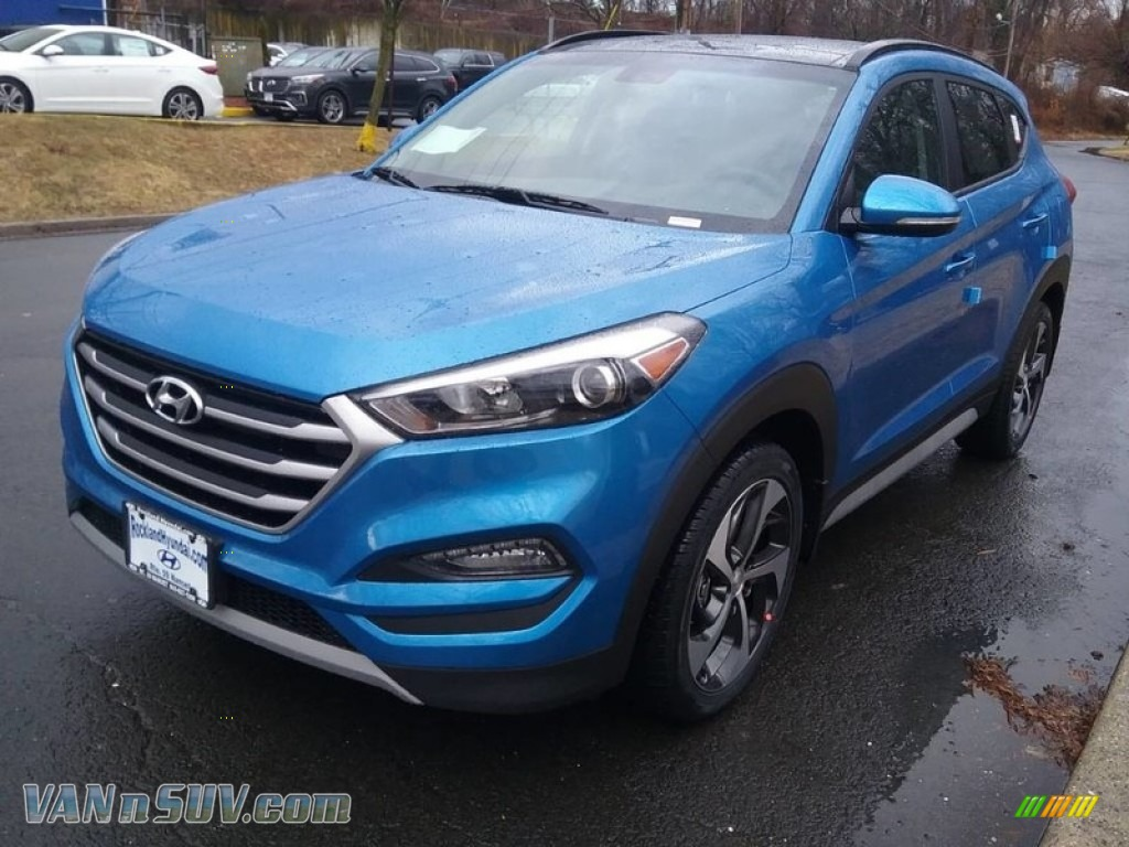 2018 Tucson Value AWD - Caribbean Blue / Black photo #1