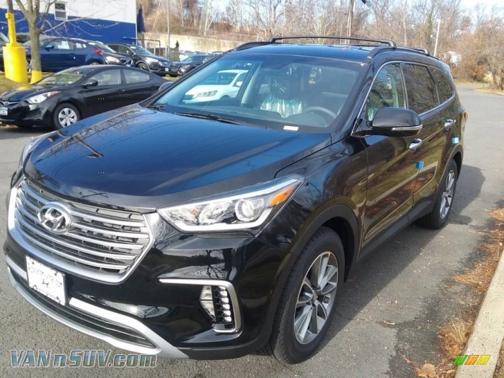 2018 Santa Fe SE AWD - Becketts Black / Gray photo #1