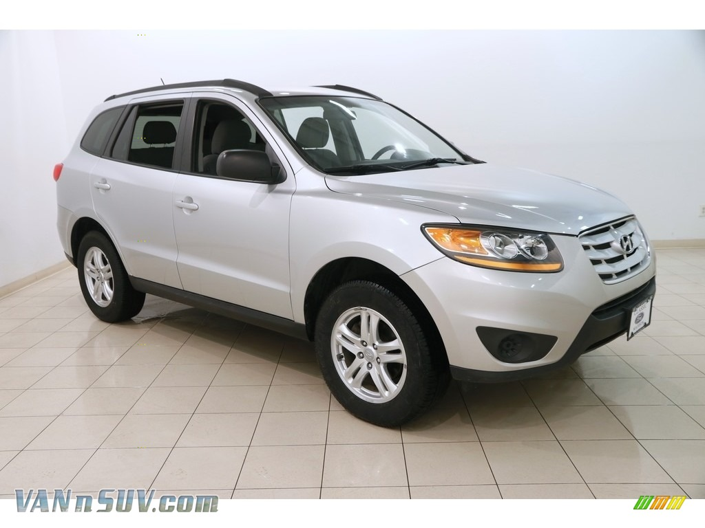 2011 Santa Fe GLS AWD - Moonstone Silver / Gray photo #1