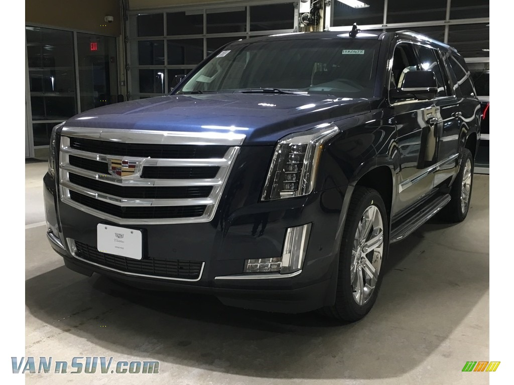 2018 Escalade ESV Luxury 4WD - Dark Adriatic Blue Metallic / Kona Brown/Jet Black photo #1