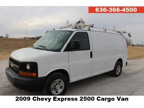 Summit White 2009 Chevrolet Express 2500 Cargo Van