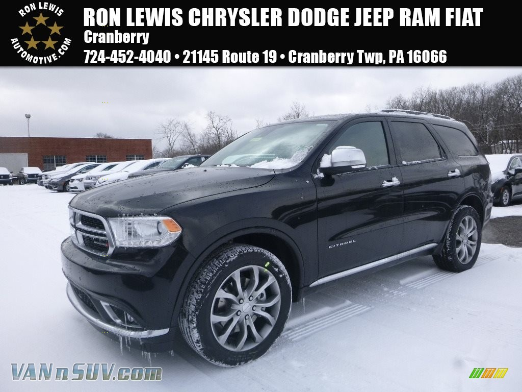 2018 Durango Citadel AWD - DB Black Crystal / Sepia/Black photo #1