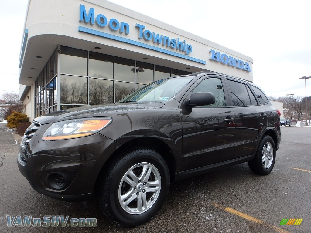 2011 Santa Fe GLS AWD - Espresso Brown / Beige photo #1
