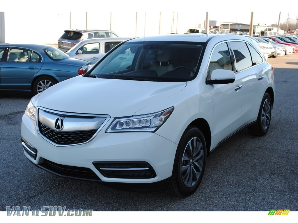 2015 MDX Technology - White Diamond Pearl / Parchment photo #1