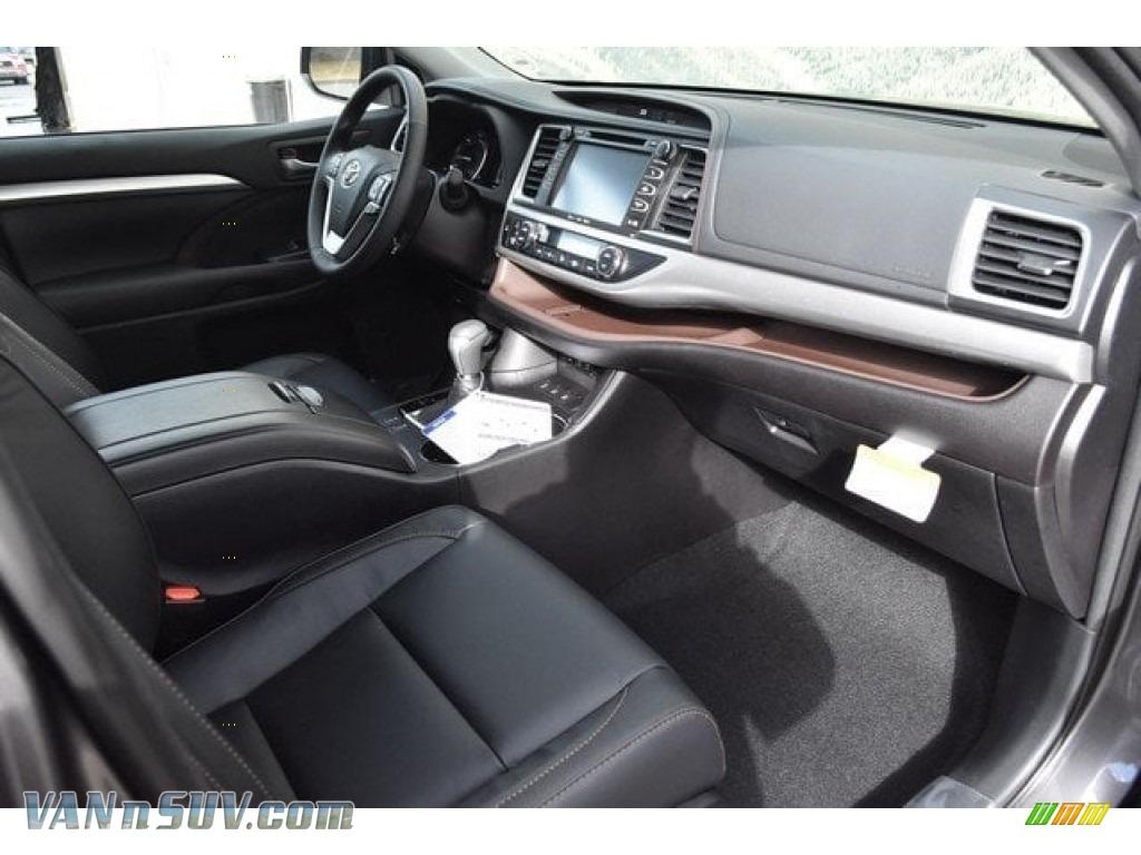 2018 Highlander Hybrid XLE AWD - Predawn Gray Mica / Black photo #11