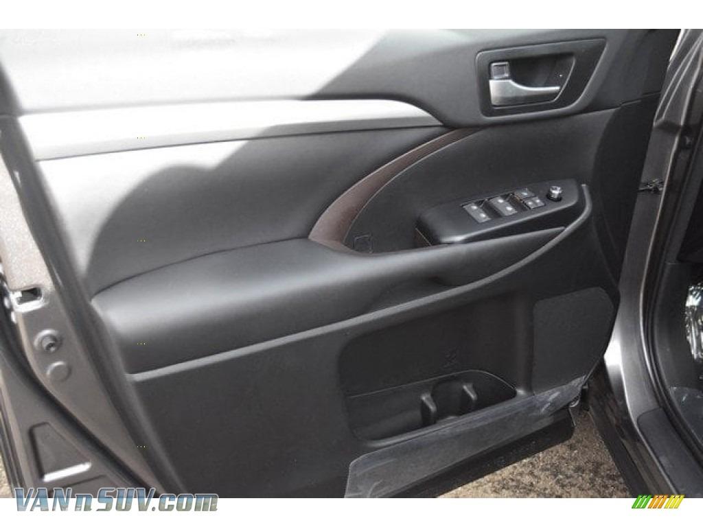 2018 Highlander Hybrid XLE AWD - Predawn Gray Mica / Black photo #23