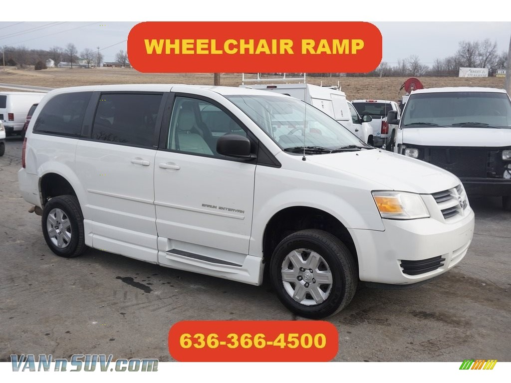 Stone White / Medium Slate Gray/Light Shale Dodge Grand Caravan SE