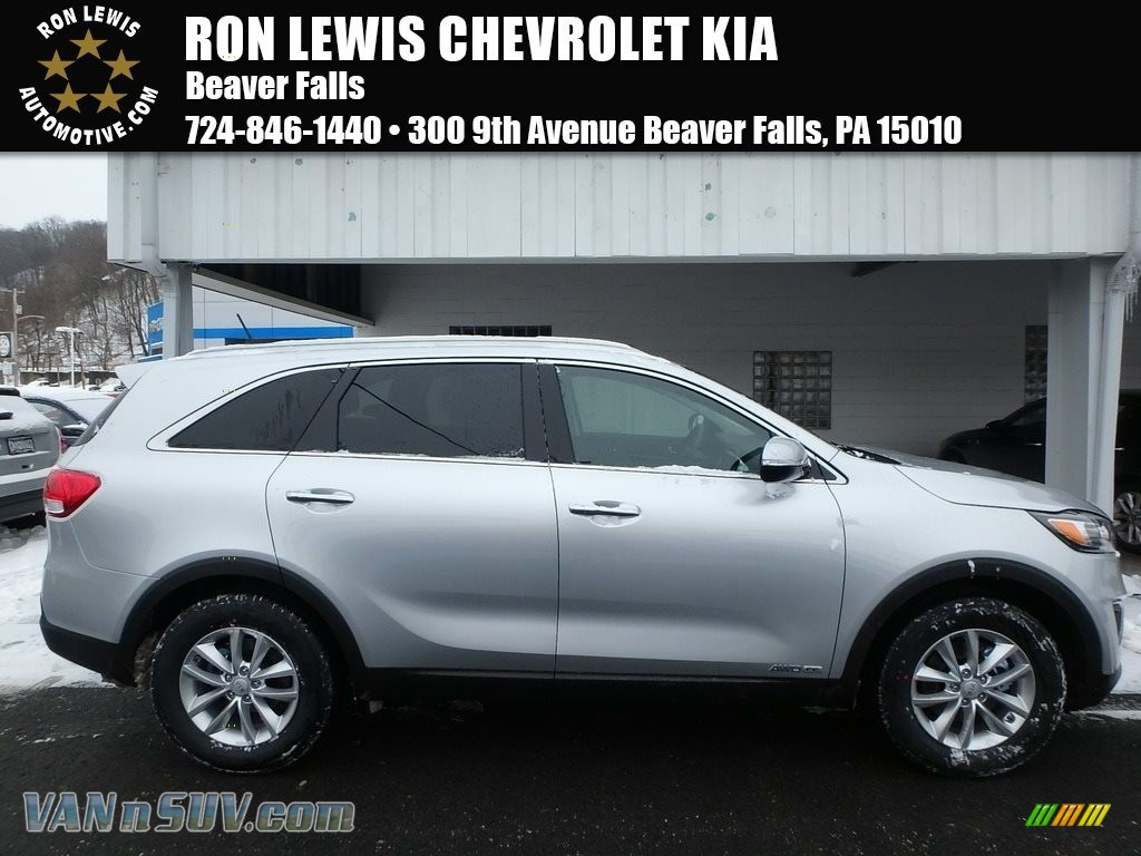 2018 Sorento LX V6 AWD - Sparkling Silver / Satin Black photo #1