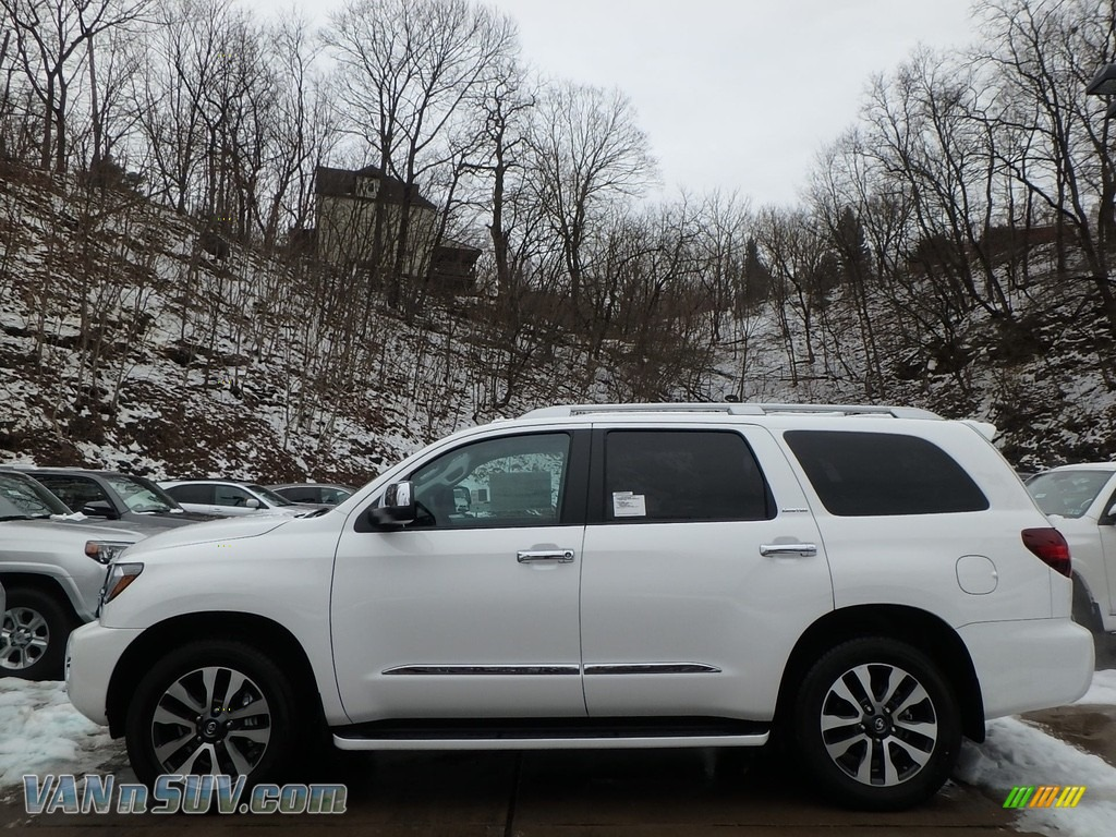 2018 Sequoia Limited 4x4 - Blizzard White Pearl / Graphite photo #3