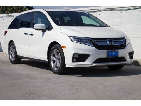 White Diamond Pearl 2018 Honda Odyssey EX-L