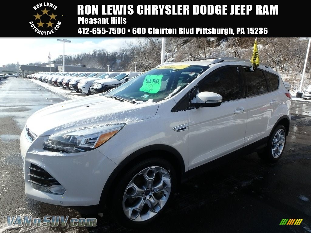 2013 Escape Titanium 2.0L EcoBoost 4WD - White Platinum Metallic Tri-Coat / Charcoal Black photo #1