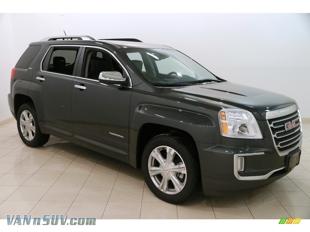 2017 Terrain SLT AWD - Graphite Gray Metallic / Jet Black photo #1