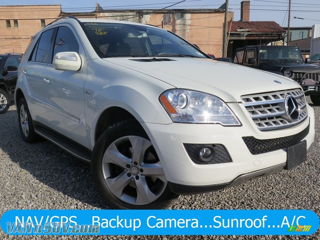 2010 ML 350 BlueTEC 4Matic - Arctic White / Cashmere photo #1