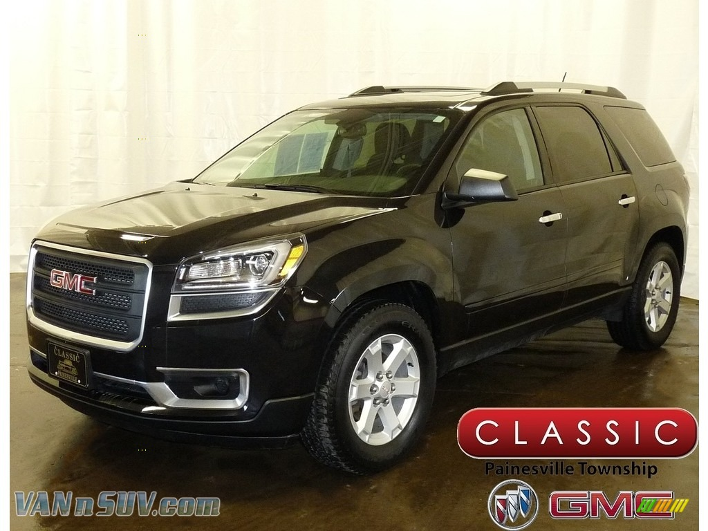 2015 Acadia SLE AWD - Carbon Black Metallic / Ebony photo #1