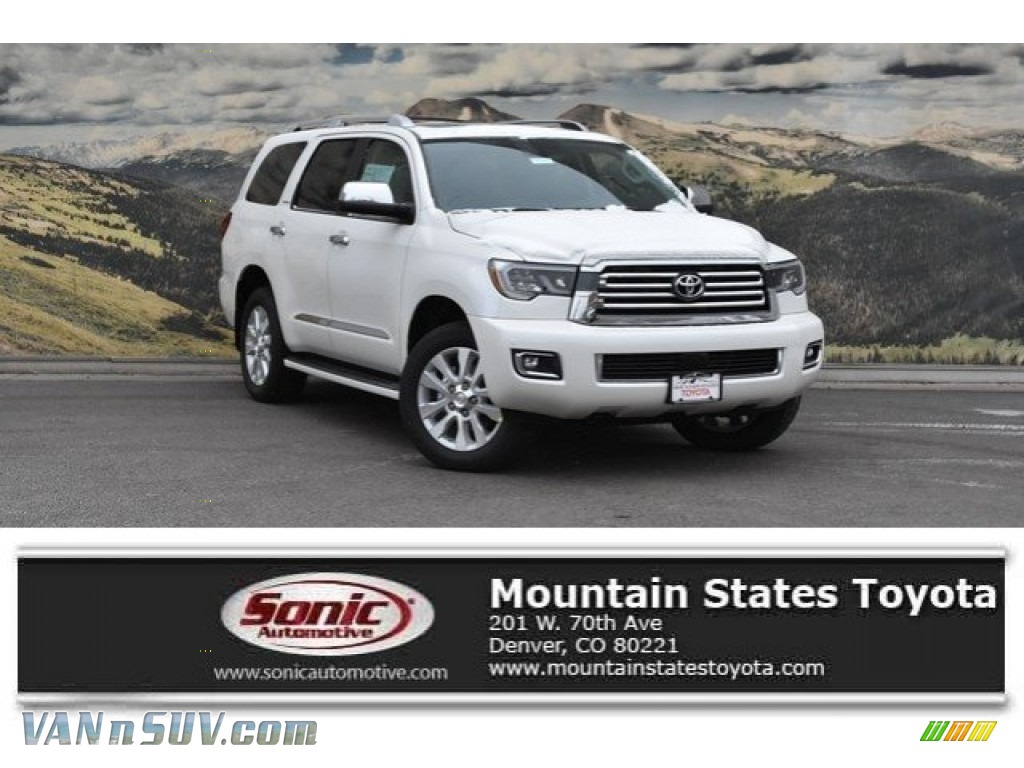 2018 Sequoia Platinum 4x4 - Blizzard White Pearl / Graphite photo #1