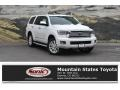 Toyota Sequoia Platinum 4x4 Blizzard White Pearl photo #1