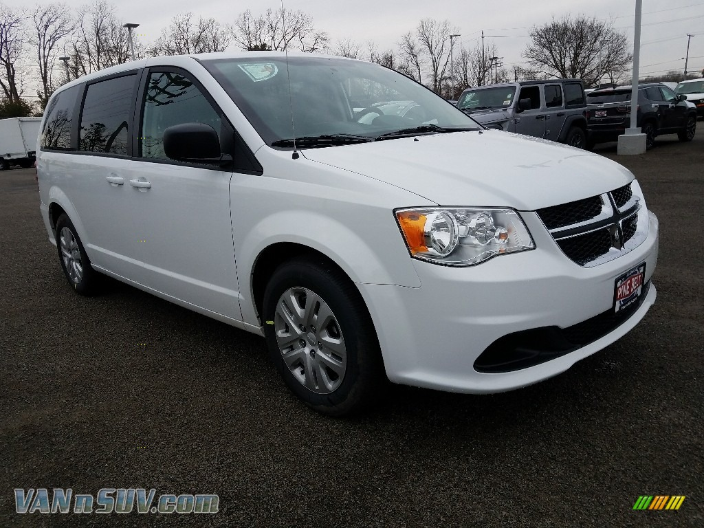 2018 Grand Caravan SE - White Knuckle / Black/Light Graystone photo #1