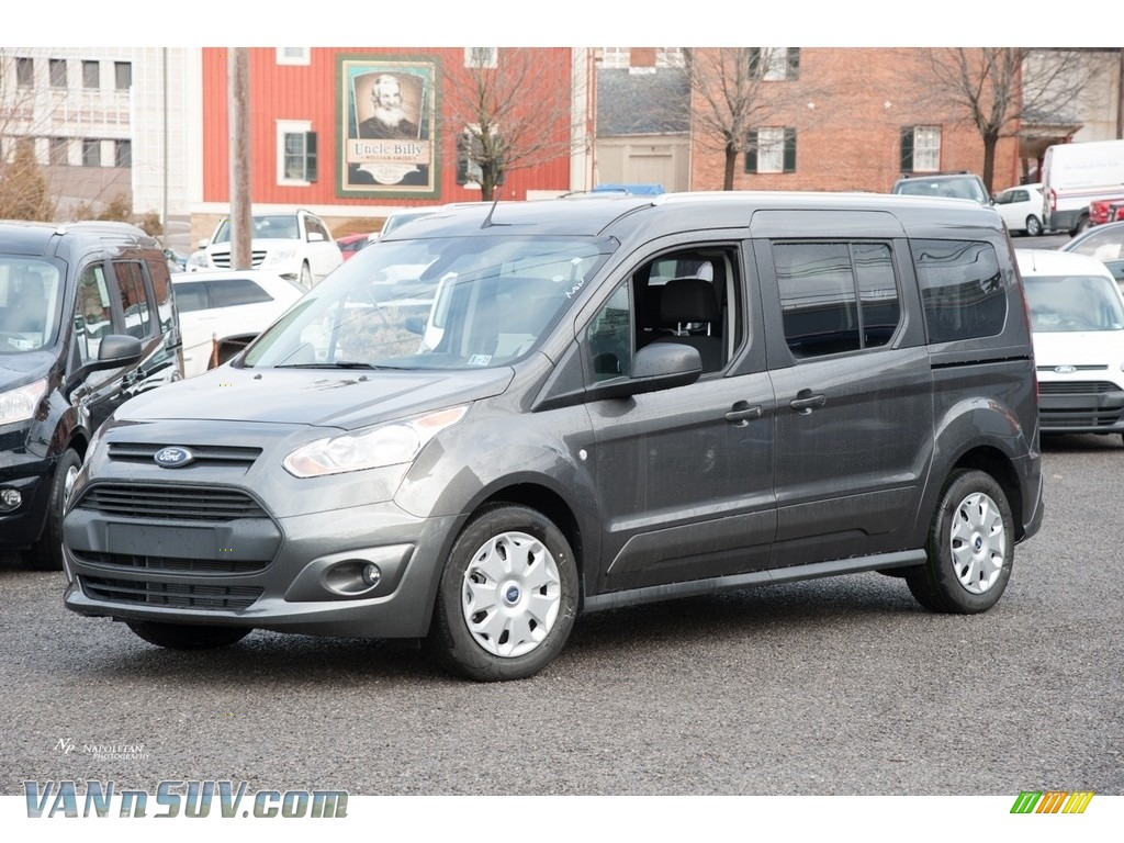 2018 Transit Connect XLT Passenger Wagon - Magnetic / Charcoal Black photo #1