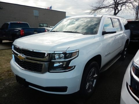 Summit White 2018 Chevrolet Suburban LS 4WD