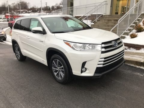 Blizzard White Pearl 2018 Toyota Highlander Hybrid XLE AWD